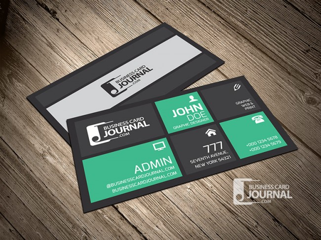 Creative Stylish Metro Business Card Template 0010 650x487 Business Card Journal: Updated Collection of Free Creative Business Card Templates