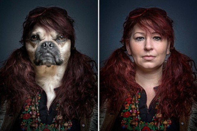 "Dogs Dressing Up Like Their Owners2 640x424 650x433 ""Underdogs"" by Sebastian Magnani"