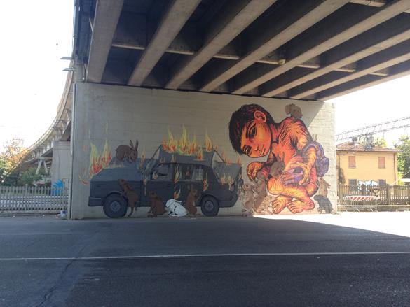 EricailcaneBastardilla1  Street Art Festival in Modena!