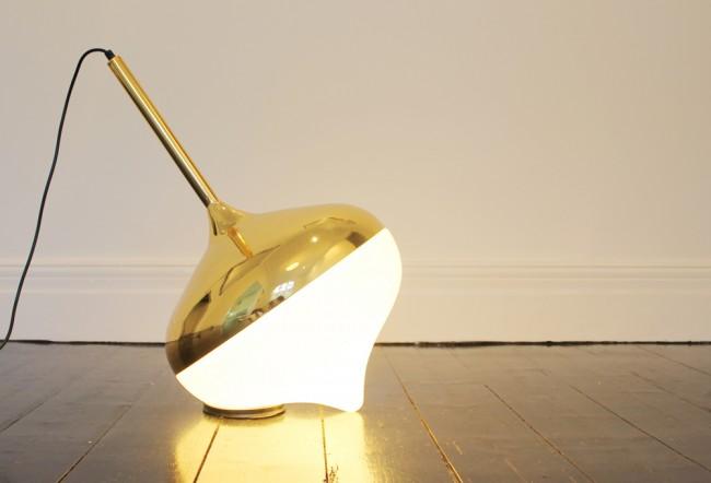 EvieGroup Spun Gold Floor 650x442 Spun Lamp