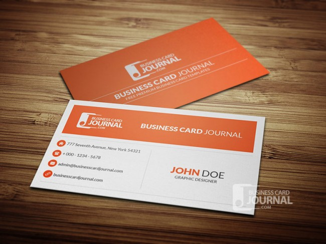 Minimal Corporate Business Card Template 0013 650x487 Business Card Journal: Updated Collection of Free Creative Business Card Templates