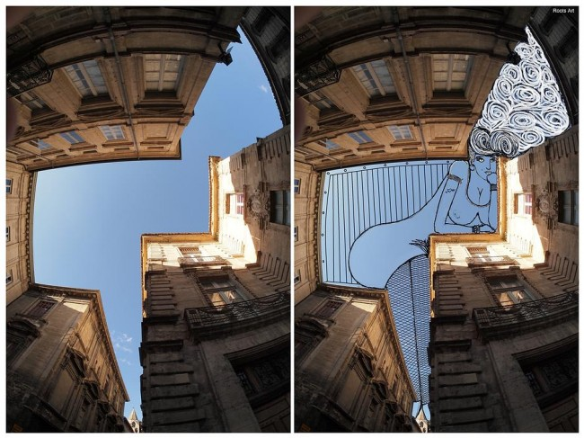 Outstanding SkyArt by Thomas Lamadieu Fun Doodles Drawn Into Photographs of Sky 01 @ Gencept 650x487 Outstanding SkyArt by Thomas Lamadieu