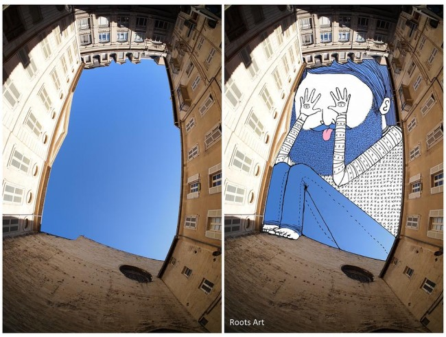 Outstanding SkyArt by Thomas Lamadieu Fun Doodles Drawn Into Photographs of Sky 07 @ Gencept 650x491 Outstanding SkyArt by Thomas Lamadieu