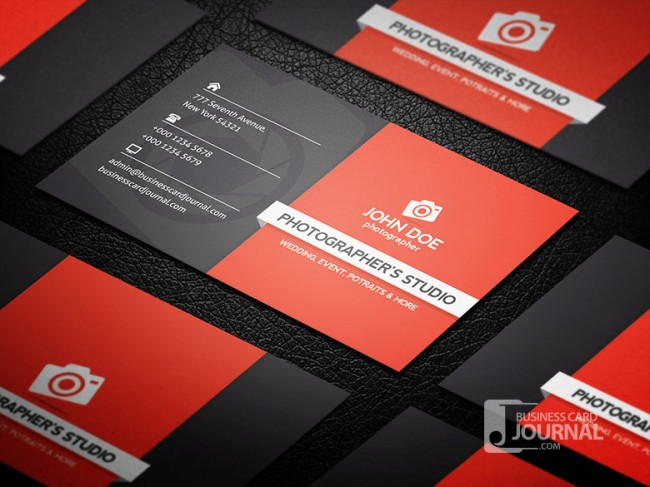 Professional Photography Business Card Template 0002 650x487 Business Card Journal: Updated Collection of Free Creative Business Card Templates