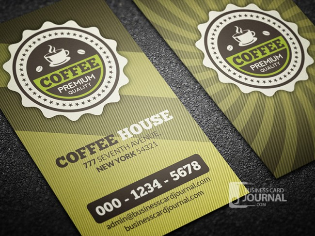 Retro Coffee House Business Card Template 00021 650x487 Business Card Journal: Updated Collection of Free Creative Business Card Templates