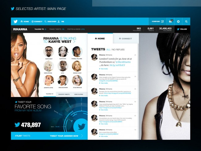 Twitter Nerby 2 650x487 Twitter Redesigned Concept by Fred Nerby – A Digital Experience