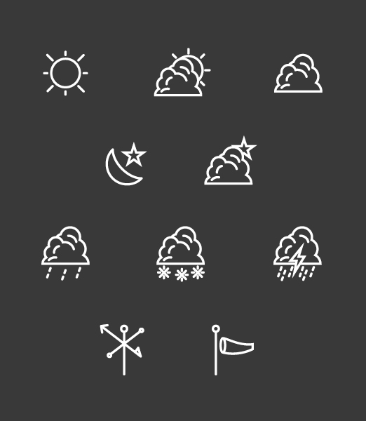 WeatherIcon WhiteOnGrey1 Weather Icon Vector Set, Free Download