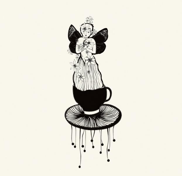 angioletto floreale cristian grossi Cosmetica del Minimondo, illustrazione italiana