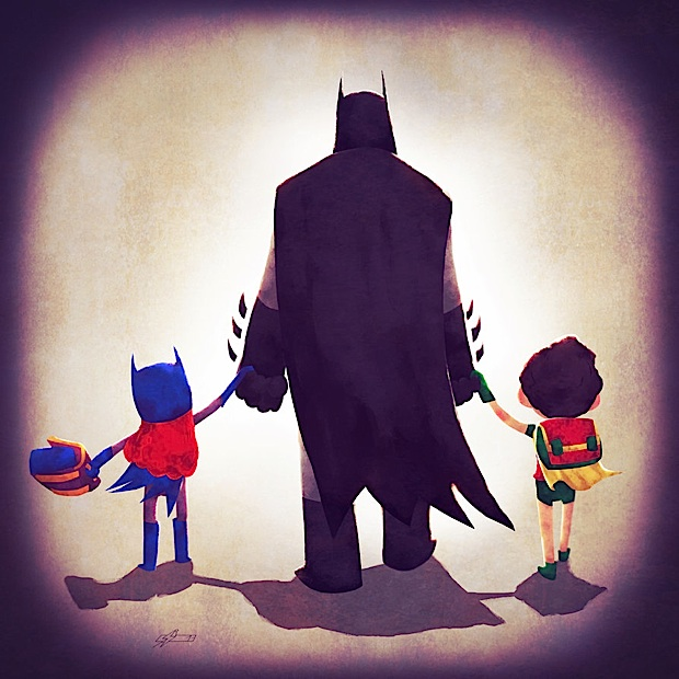 batdad by andry shango d65npsw Super Hero Families