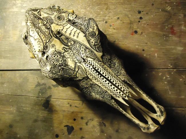 carved skulls jason borders 3 650x487 Carved Skulls by Jason Borders