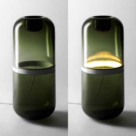 demi lamp mattias stenberg 2b thumb 468x468 48171 Demi Lamp, a mouth blown glass high tech light source