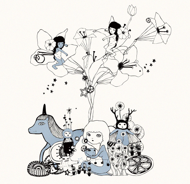 fairy children world Cosmetica del Minimondo, illustrazione italiana