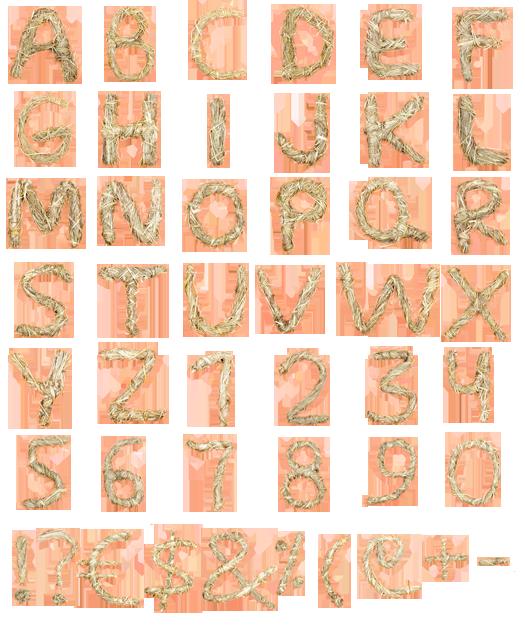 hay font alphabet Hay font.