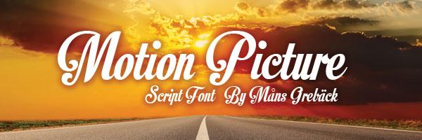 motion picture 25 Free Impressive Designer Fonts