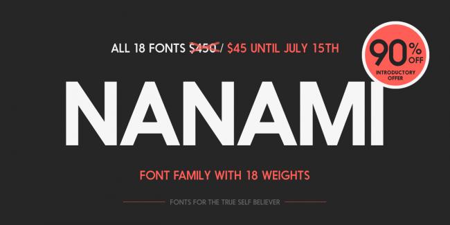 nanami myfonts 0 650x325 NANAMI TYPE FAMILY (18 FONTS)