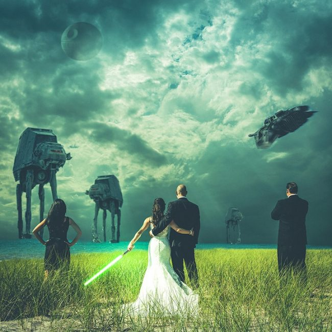 reddit star wars 650x650 Hot Trend: Hilarious Wedding Party Attack Photos