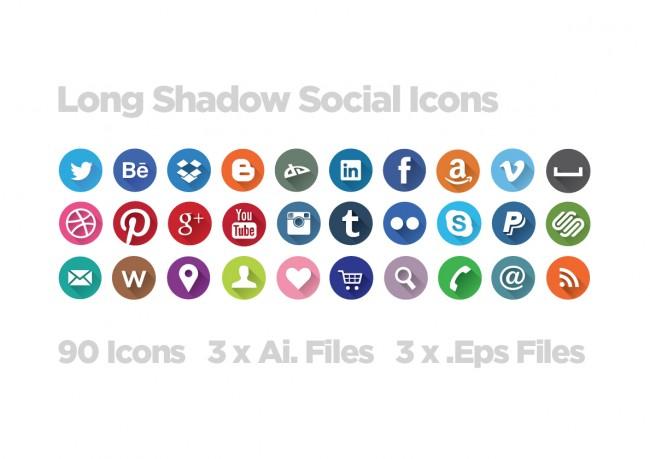 screen shot 2013 07 23 at 19.09.0033 o 650x459 Long Shadow Social Icon Set Download