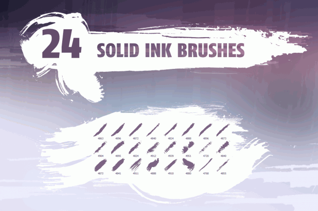 solidink o 650x432 Solid ink brush pack