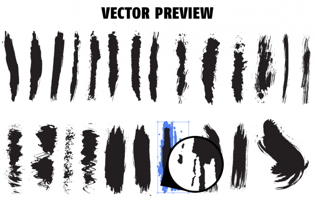 vectorpreview o 650x432 Solid ink brush pack
