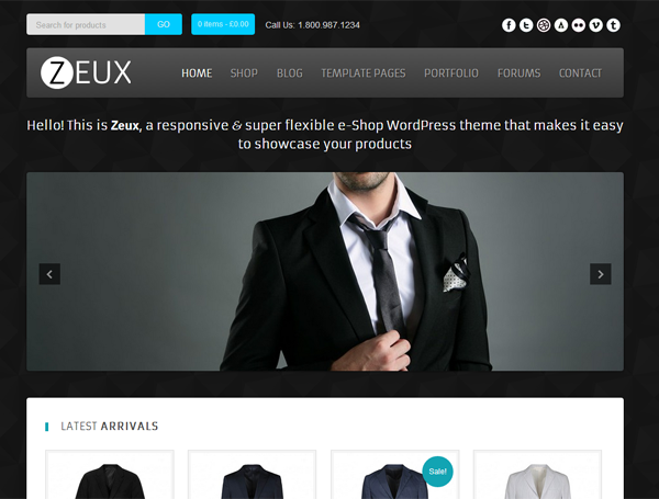 zeux 600x455 ZEUX – FREE E COMMERCE WORDPRESS THEME on WPCROWN
