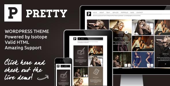 Pretty - Clean Masonry Responsive WordPress Theme