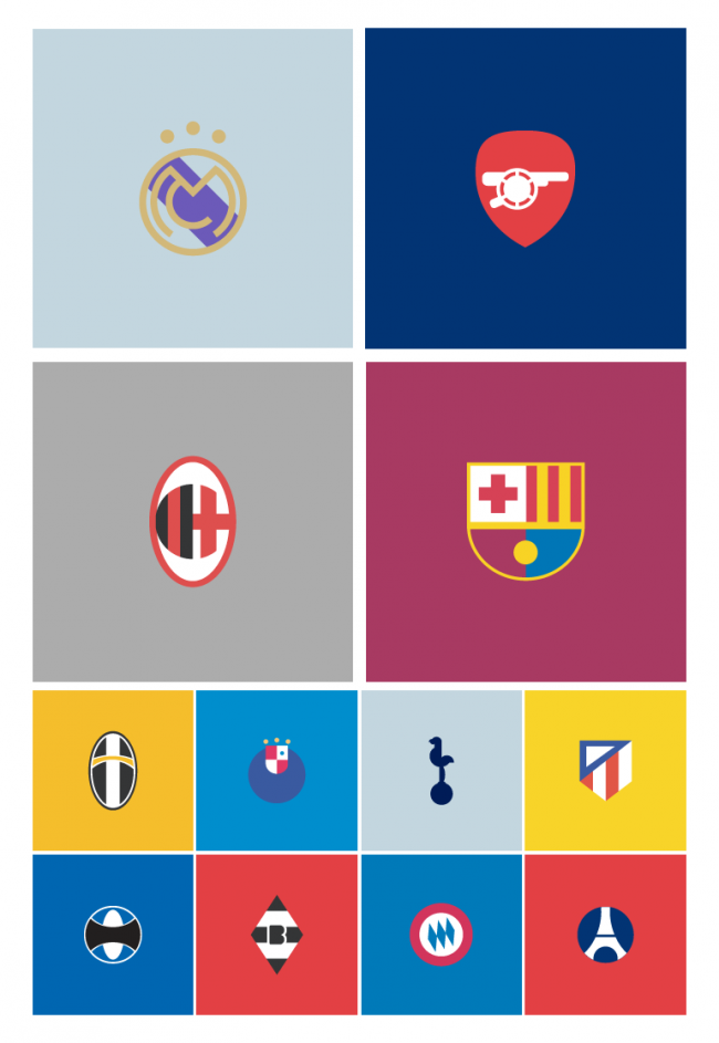 ALL 650x943 Minimal Football Logos. By Manara Design Studio