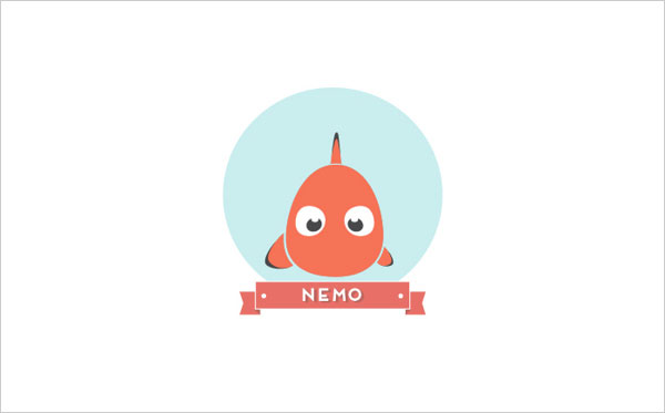Finding Nemo Icon A Minimalist Tribute to Pixar and Disney Characters by Mirko Landi