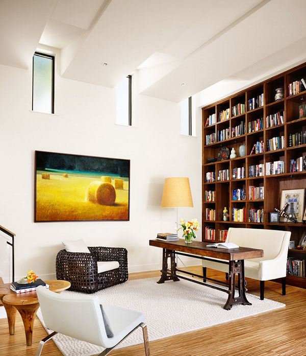 finest thegrid with home library design ideas