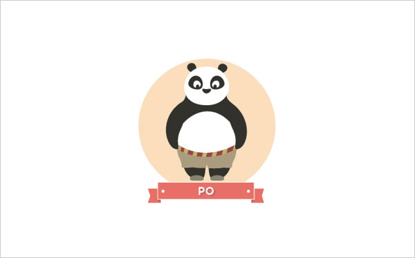Kung Fu Panda 2 Movie Po Icon A Minimalist Tribute to Pixar and Disney Characters by Mirko Landi