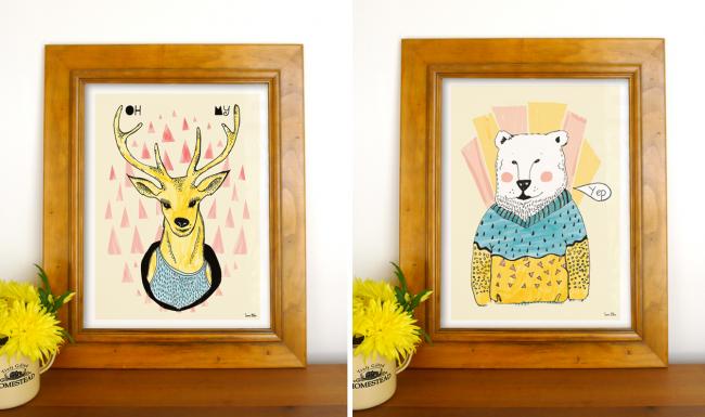 Oh My Deer 650x385 Doodle Art