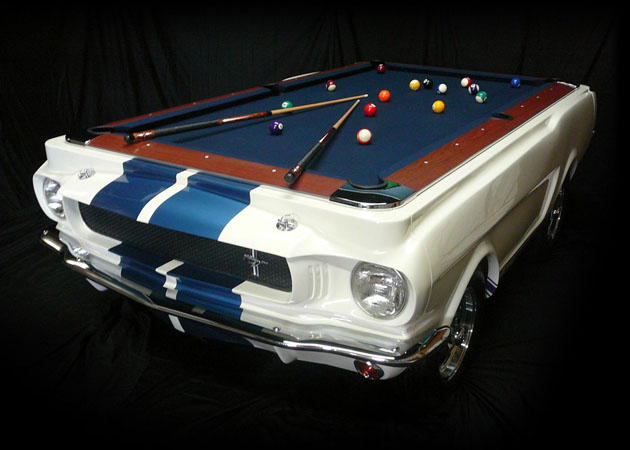 Pool Pool Table Made From Real 1965 Shelby GT350 Car