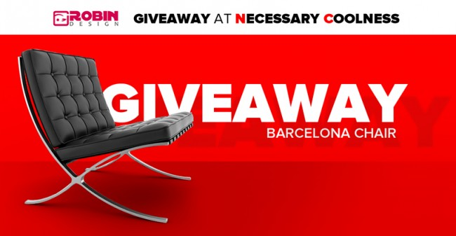 RobinDesign GiveAway 650x337 Barcelona Chair Giveaway