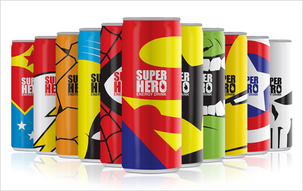 Super Heroes Energy Drink Tin Packaging Fuel Up Your Creativity With Energy Drink Packaging Designs
