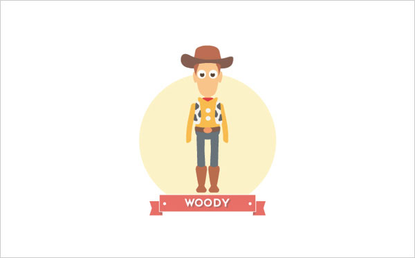 Toy story Woody Icon A Minimalist Tribute to Pixar and Disney Characters by Mirko Landi