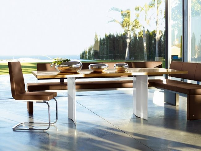 Wohn DesignTrend Esstiche für Esszimmer Rolf Benz 650x488 Big Dining Tables for modern Dining Rooms