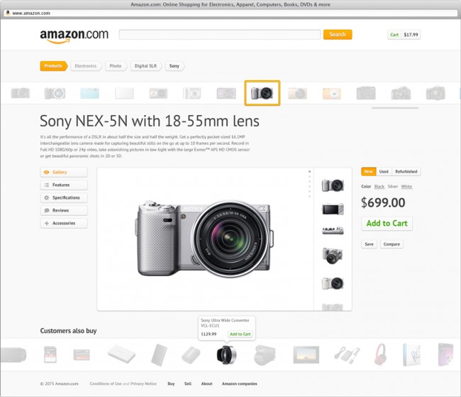 amazon redesign11 650x559 8 Great Redesigns of Popular Websites & Apps