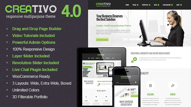 creativo Creativo – A Responsive WordPress Theme