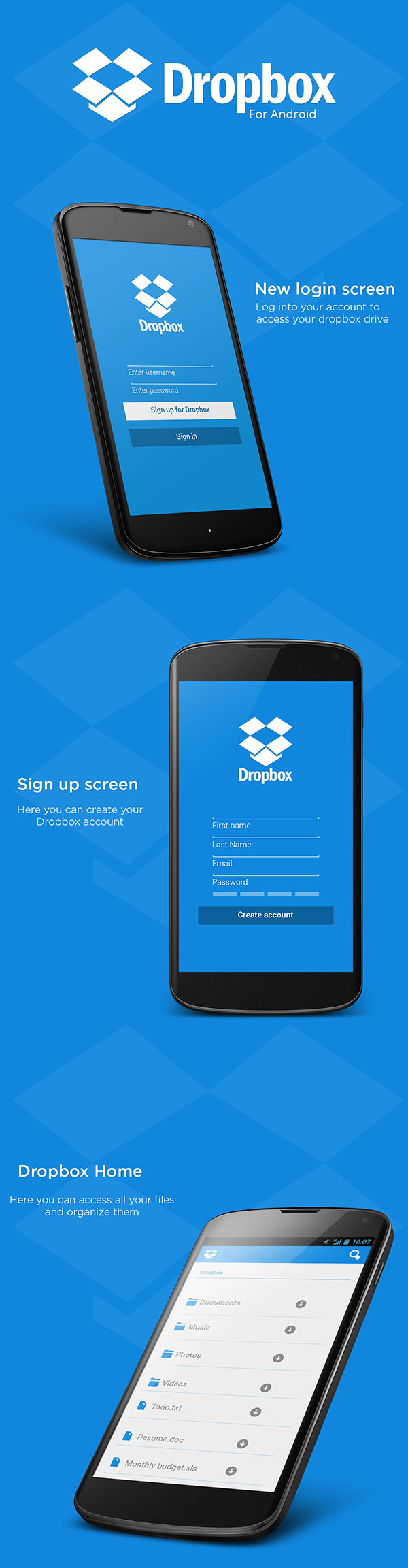 dropbox Mobile UI Design Inspiration #4
