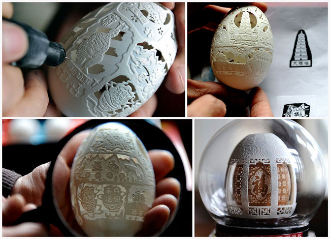 eggshells sculptures Incredible Sculptures Made of Eggshells