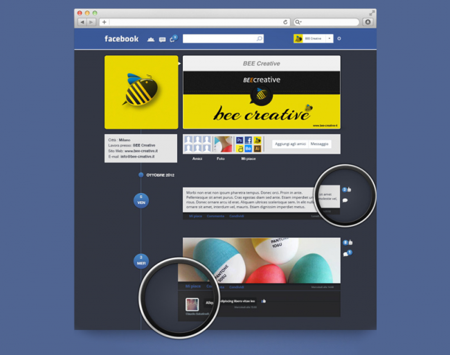 facebook restyle11 650x513 8 Great Redesigns of Popular Websites & Apps