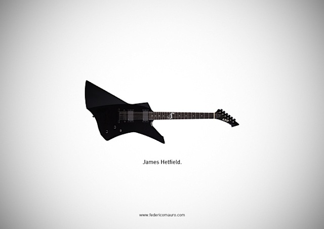 famous guitars illustrations by federico mauro 08 Most Famous Guitars Illustrations By Federico Mauro