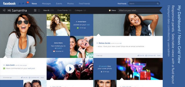 fatured facebook new design1 650x305 Facebook – New Design and Concept by Fred Nerby