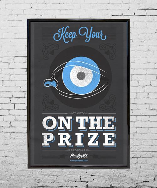 framed eye on the prize poster3 Paulyestr   Prints & Paintings