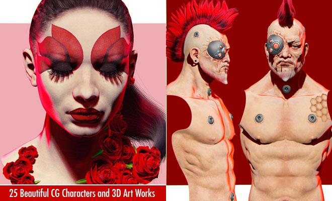 g520 25 Beautiful CG Characters by Piotr Rusnarczyk and Yuzijiang