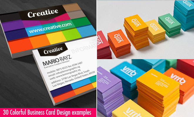 g555 30 Colorful Business Card Design Examples for your inspiration