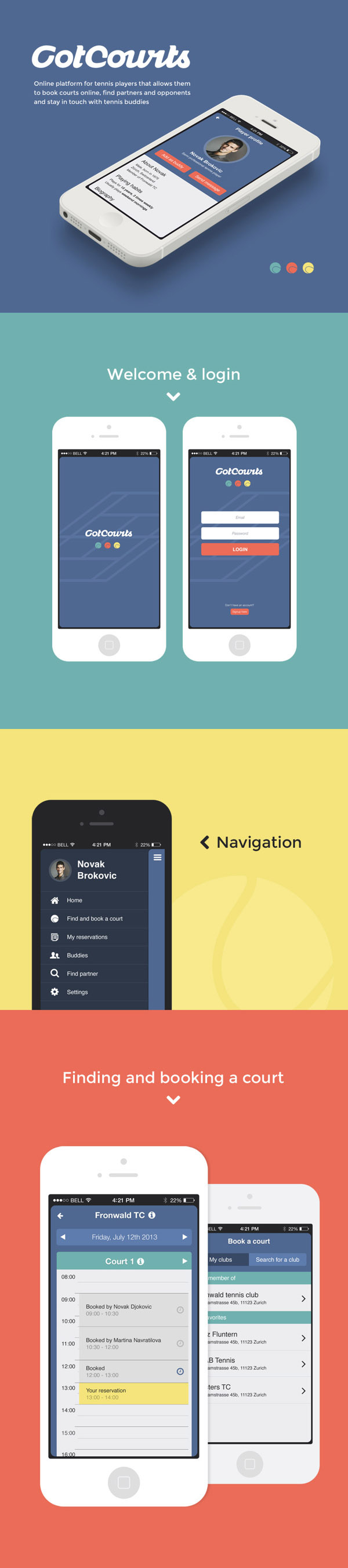 got courts Mobile UI Design Inspiration #3