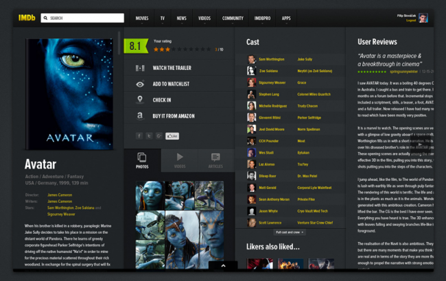 imdb11 650x410 8 Great Redesigns of Popular Websites & Apps