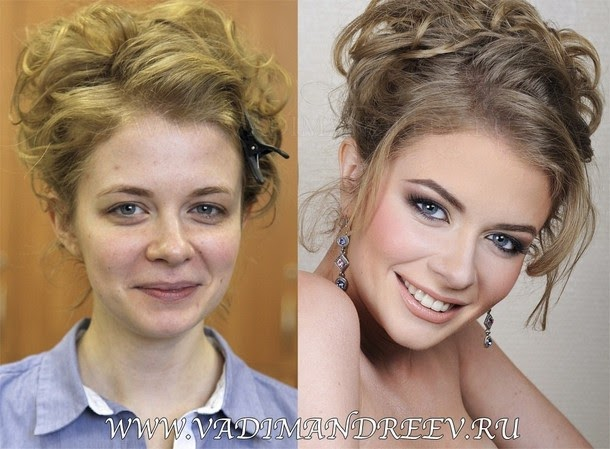 makeup before and after Amazing Before and After Makeup Photos by Vadim Andreev