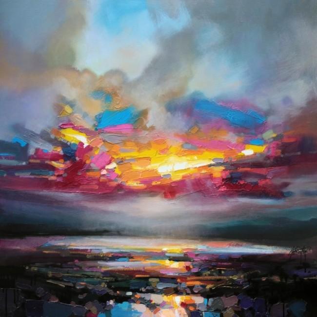 scottnaismith1 650x650 Colorful Reinterpretations of Cloudy Scottish Landscapes
