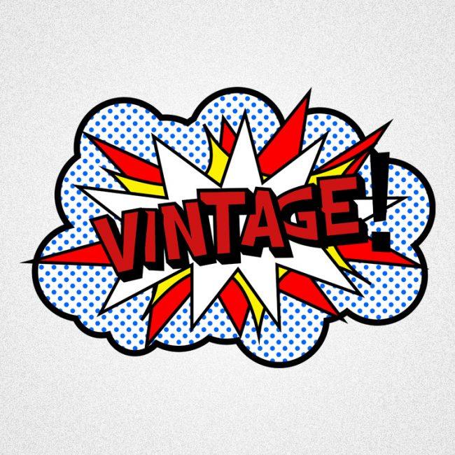 vintageness 06 vintage boom pop art style 02 650x650 Vintage boom (pop art style) t shirt. Vintageness collection